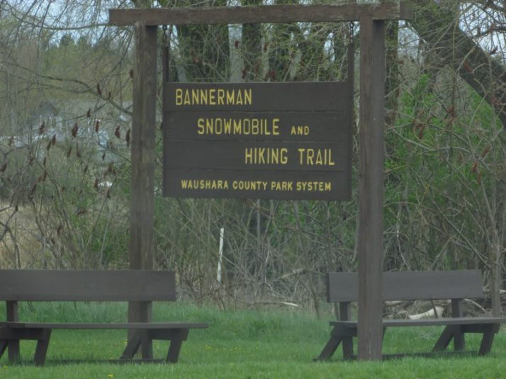 Bannerman Trail sign in Redgranite