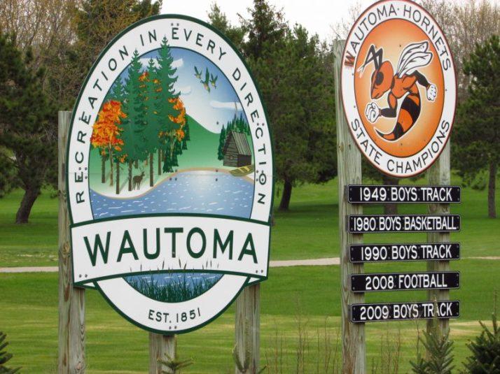 Wautoma sign