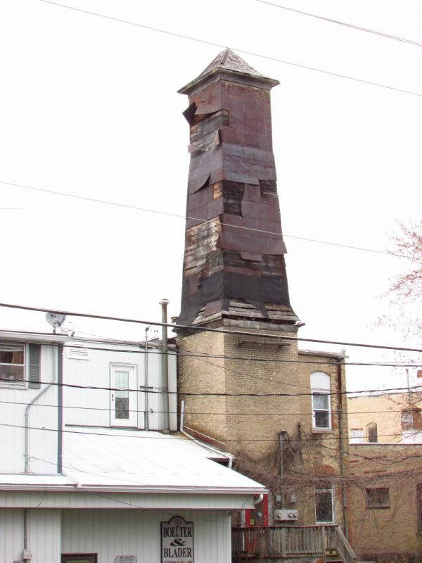 Old smokestack in Wautoma