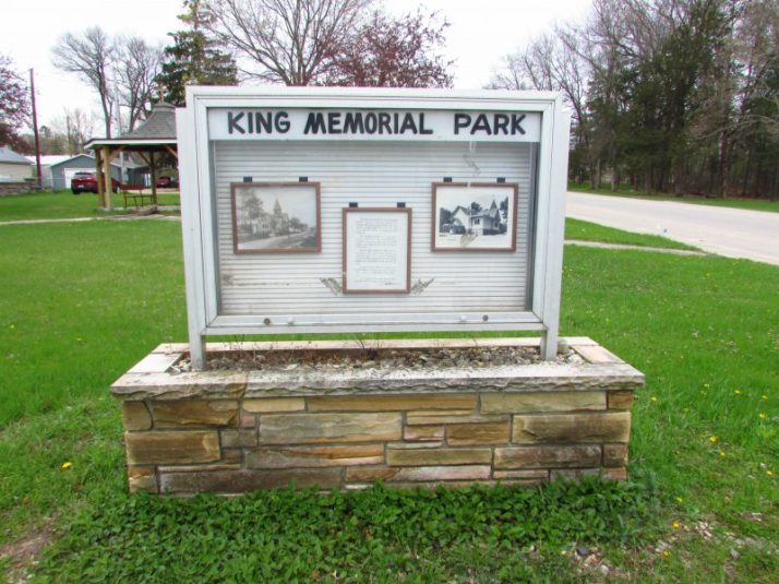 King Memorial park in Redgranite
