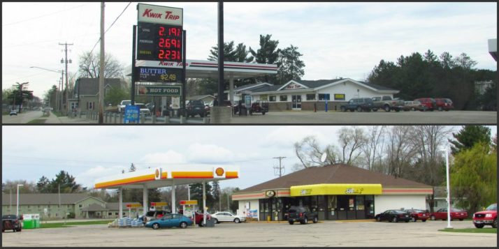 Kwik Trip and Shell gas in Redgranite