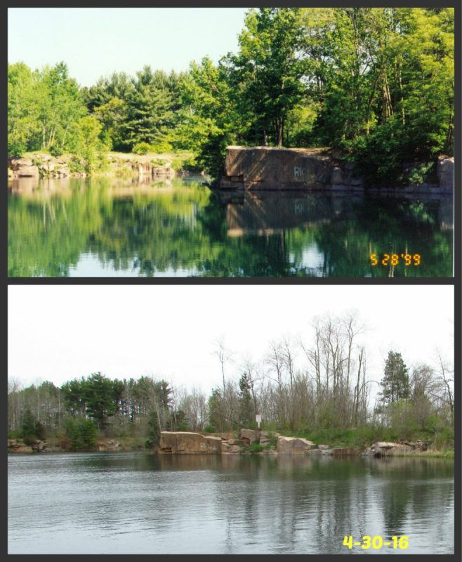 Redgranite Quarry 1998 and 2017