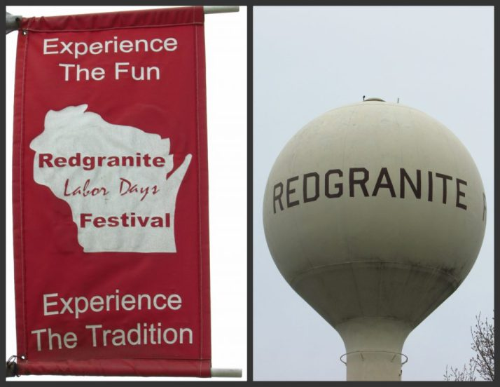 Redgranite Water Tower and Banner