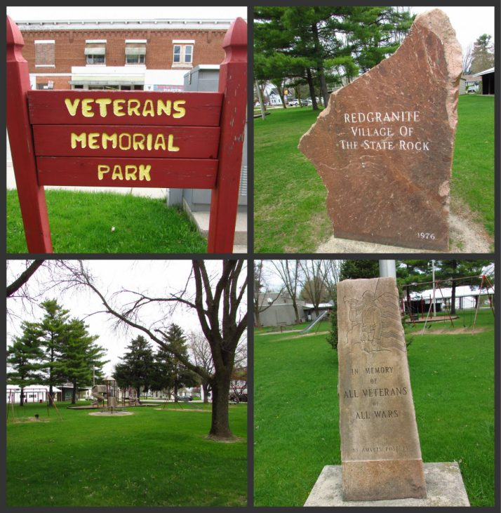Veterans Memorial Park in Redgranite