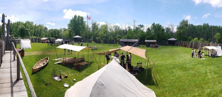 Inside stockade at Rendezvous