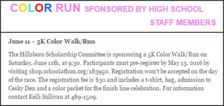 Color Run details at Cesky Den
