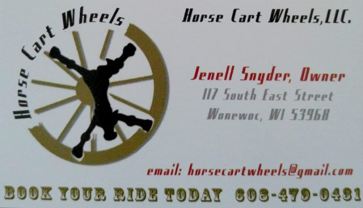 Horse cart Wheels info Wonewoc
