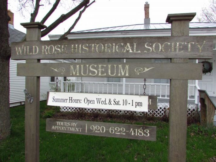 Wild Rose Historical Society Museum sign