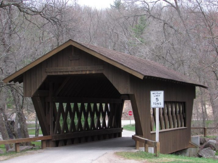 Volunteer Covered Bridge in Wild Rose