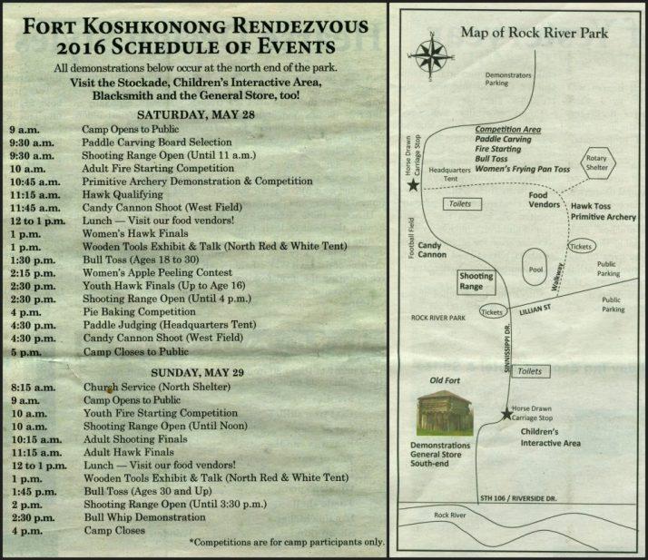 Rendezvous 2016 Schedule