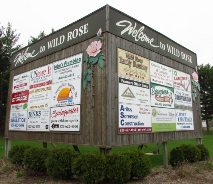 Welcome to Wild Rose Sign