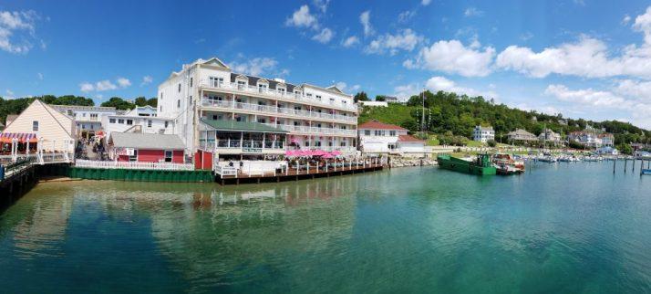 Pink Pony and Harbor on Mackinac