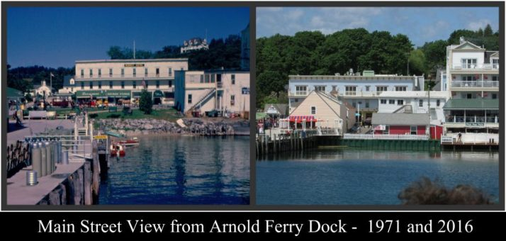 Arnold Ferry Dock 1971 and 2016 Collage