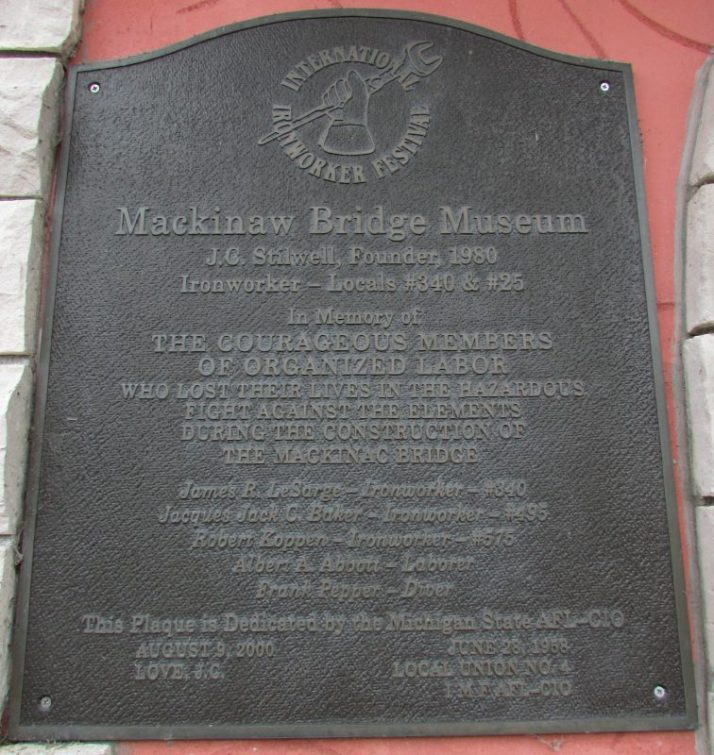 Bridge Museum plaque on building