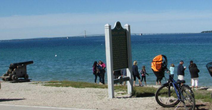 British Landing on Mackinac Island