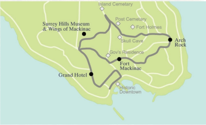 Carriage Tour route