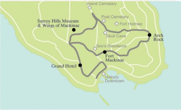 Carriage Tour route