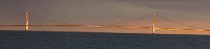 Gold Mackinac Bridge