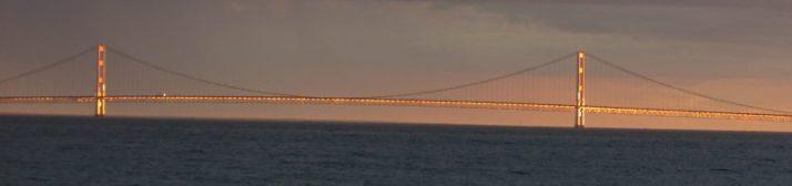 Gold Mackinac Bridge