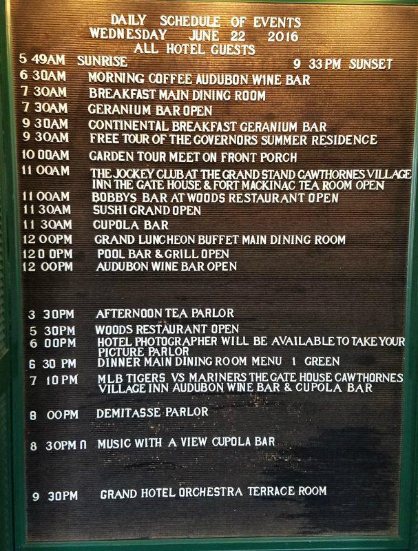 Grand Hotel Schedule 6-22-16