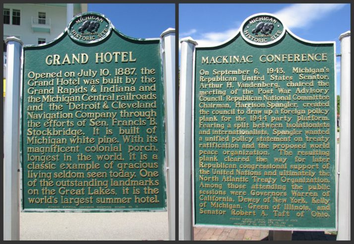 Grand Hotel Two-sided marker