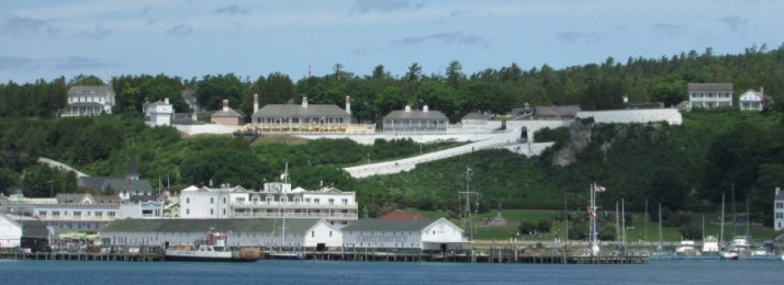 Harbor View of Fort on Mackinac Island