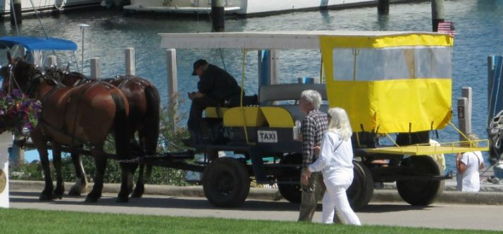 Horse Taxi on Mackinac