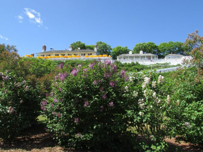 Fort Mackinac on island