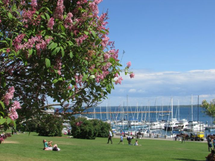 Harbor view on Mackinac Island