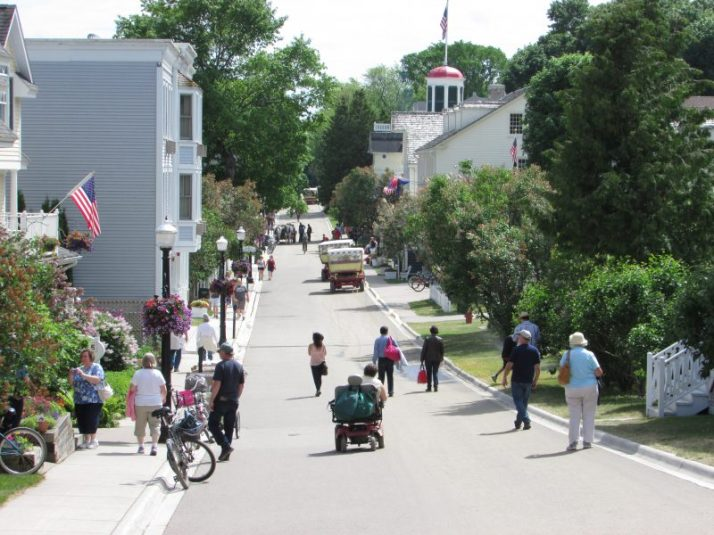 Market Street on Mackinac Island