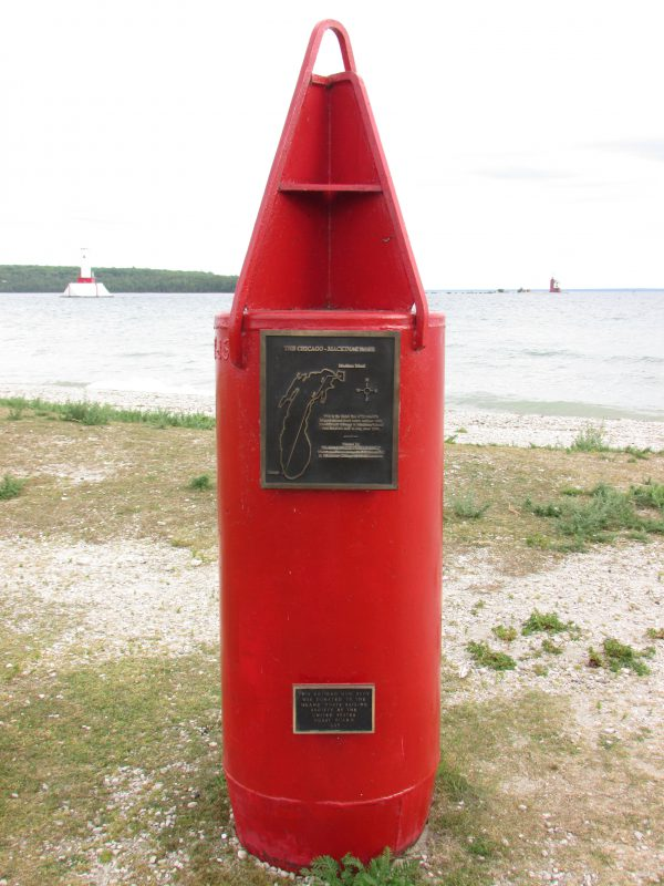 Rack to Mackinac retired buoy