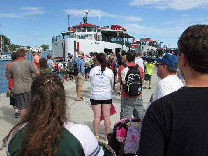 Oyyowa Ferry back to Mackinaw City