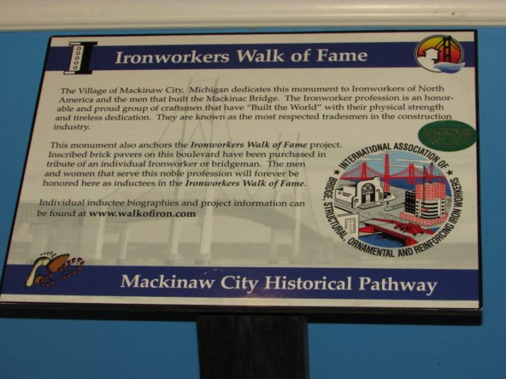 Ironworkers Walk of Fame sign