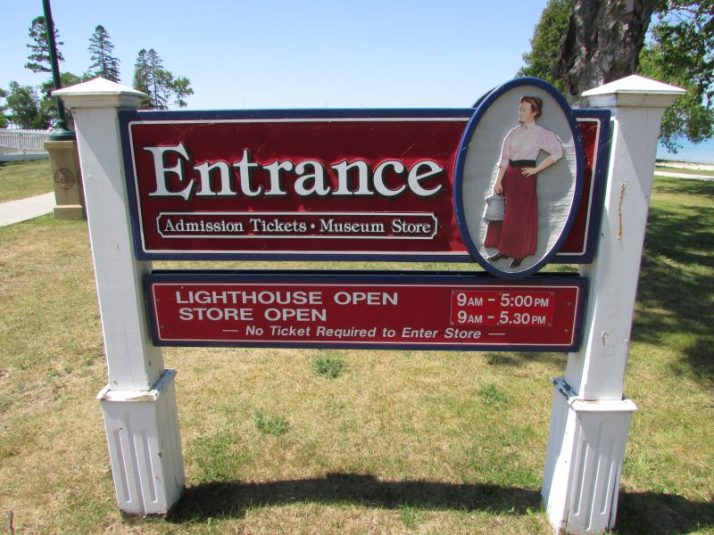 Old Mackinac Point Light House sign