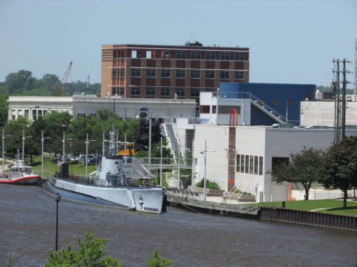 View of Wisconsin Maritime Museum from Manitowoc