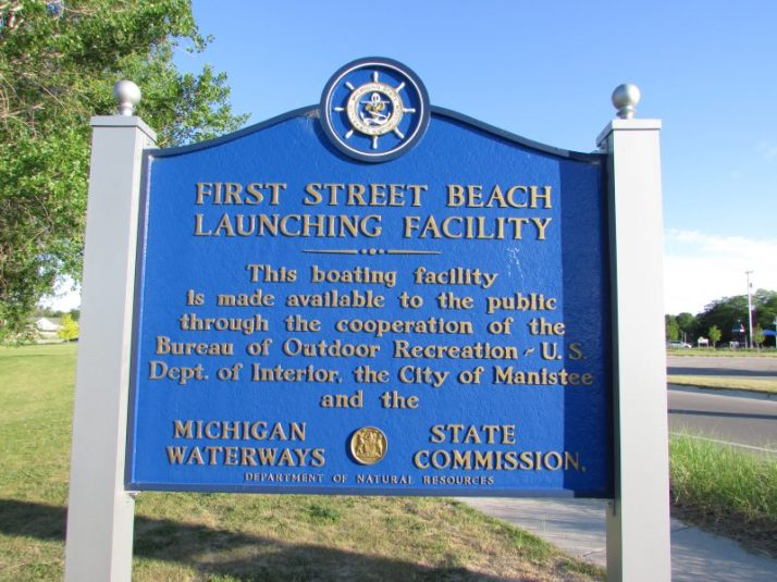 First Street Beach marina marker