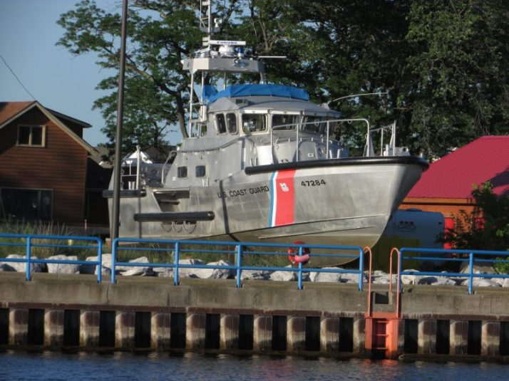Coast Guard boat in Manistee