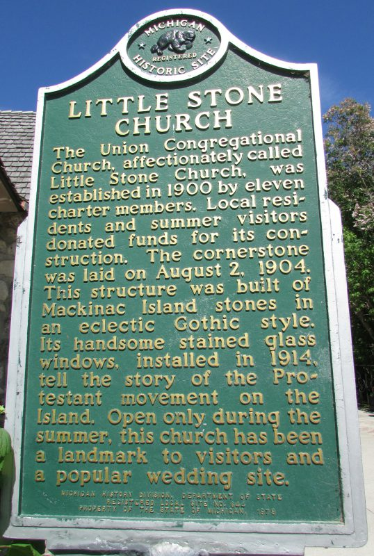 Little Stone Church marker