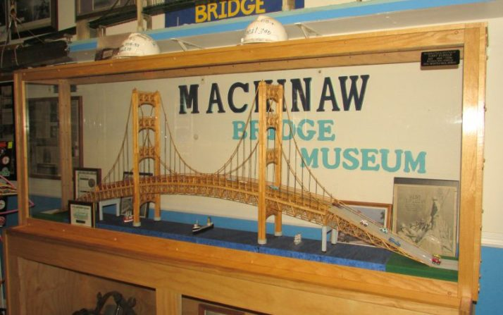 Mackinaw Bridge Museum display
