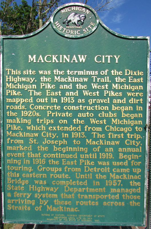 Mackinaw City Historical marker