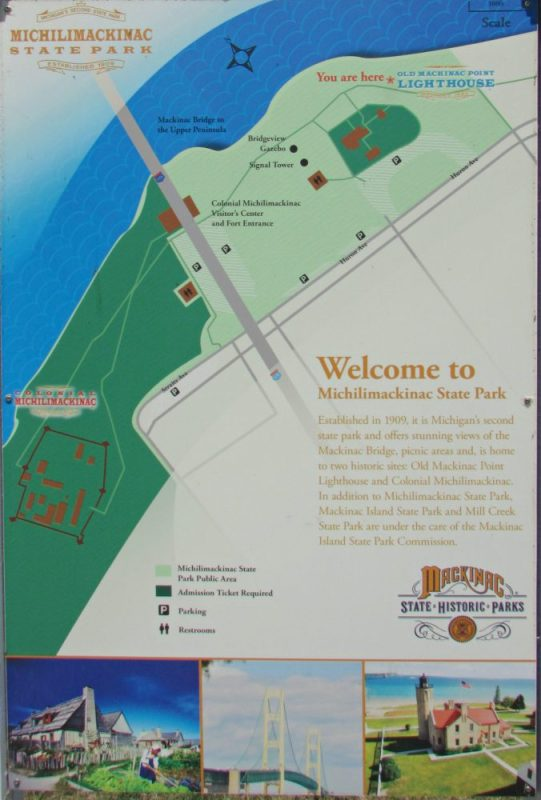 Michilimackinac State Park map