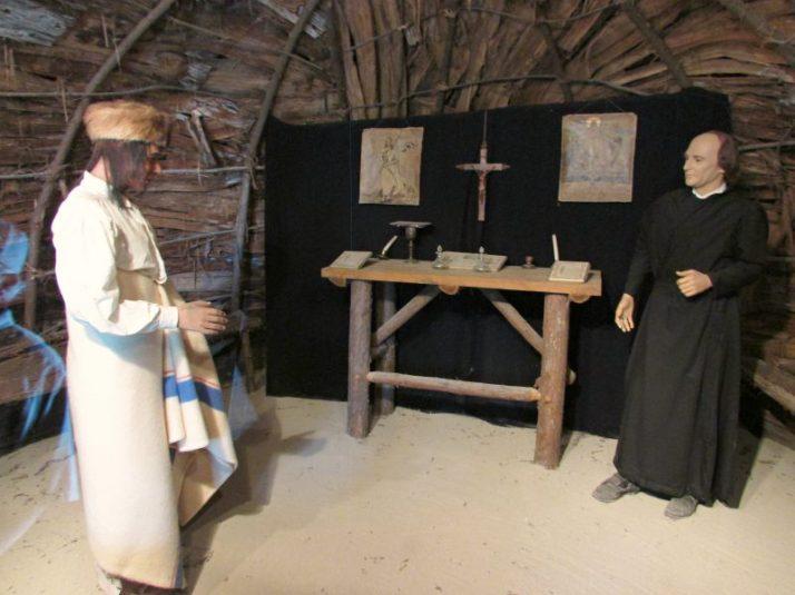 Missionary Bark Chapel inside at Mackinac Island