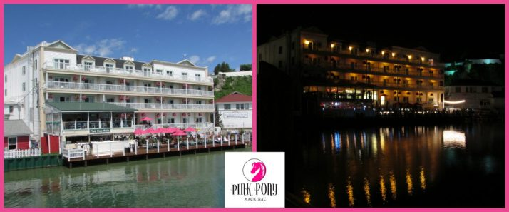 Pink Pony Bar and Grill at Chippewa Hotel on Mac Island Collage
