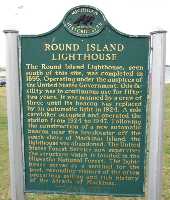 Round Island Light House marker