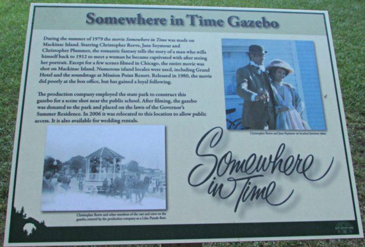 Somewhere in Time Gazebo sign