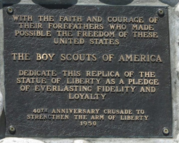 Statue of Liberty plaque on Mackinac Island