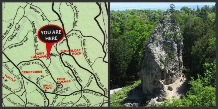 Sugar Loaf Rock and location