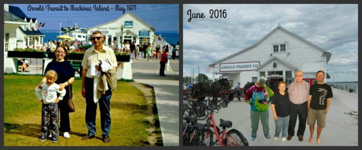 Tauchens in front of Arnold Building 1971 and 2016