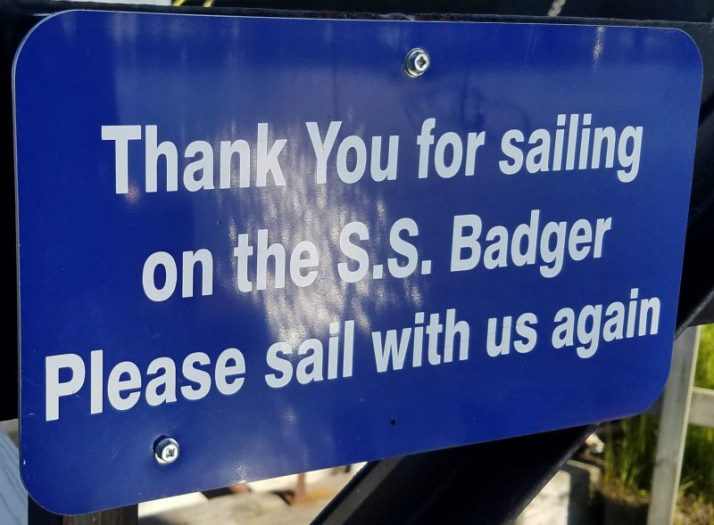 Thanks for sailing on the S.S.Badger