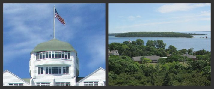 View of Round Island from Grand Hotel Cupola Bar Collage